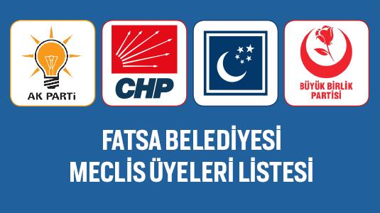 FATSA BELEDİYESİ MECLİS ÜYELERİ LİSTESİ