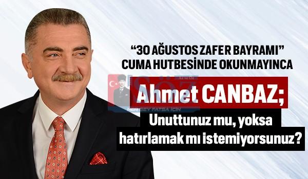 Ahmet Canbaz'dan Diyanet İşleri Başkanlığı'na Gönderme