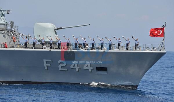 TCG Barbaros (F-244) Savaş Gemisi Ordu'ya Geliyor