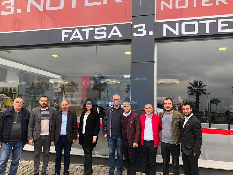 FATSA OTO GALERİCİLER DERNEĞİNDEN 3. NOTER'E ZİYARET