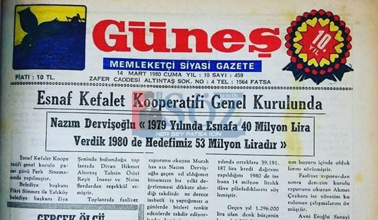 39 YIL ÖNCESİNİN FATSA GÜNEŞ GAZETESİ