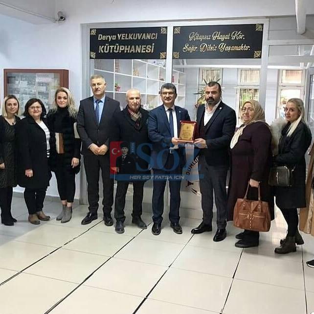 Fatsa Dumlupınar İlköğretim okulunda rahmetli DERYA YELKUVANCI'nın adının yaşayacağı kütüphanenin teslimi gerçekleşti.