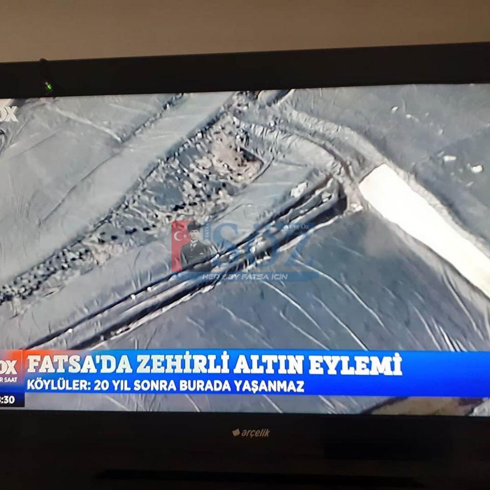 FATSA'DA ZEHİRLİ ALTIN EYLEMİ