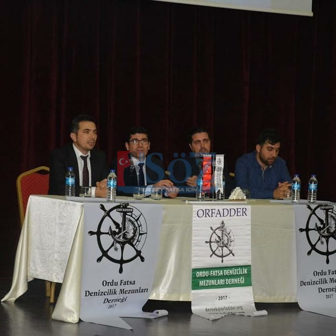"""Fatsa'da """"Denizcilik Sektörünün Bugünü ve Geleceği"""" Konulu Konferans"""