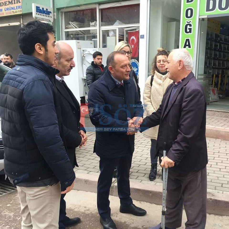 CHP'DEN ESNAF ZİYARETİ