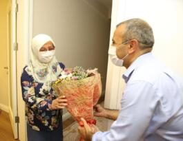 Şehit annesini Bakan Soylu ile görüştürdü