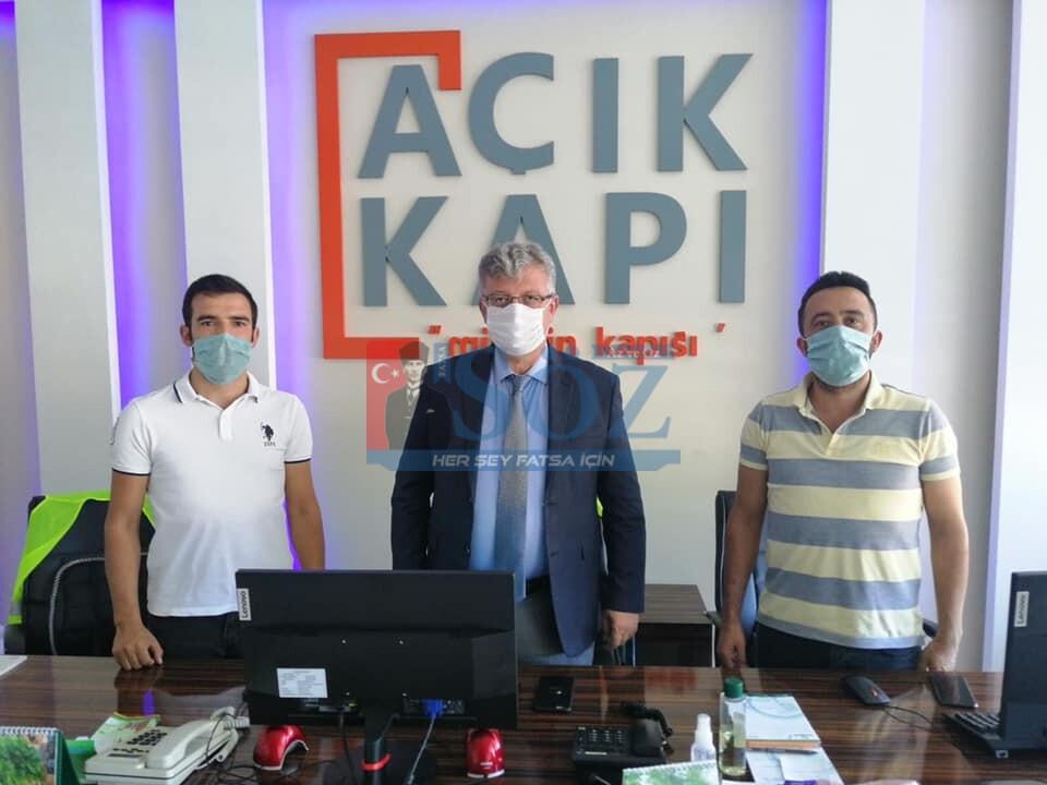 "KAYMAKAM YARAN ""AÇIK KAPI"" BÜROSUNU ZİYARET ETTİ"